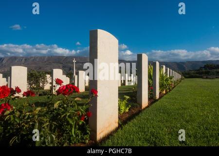 Suda Bay Commonwealth war cemetery, Crete - Stock Photo