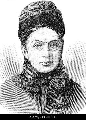 Isabella Lucy Bird, (1831 – 1904), nineteenth-century English explorer, writer and naturalist - Stock Photo