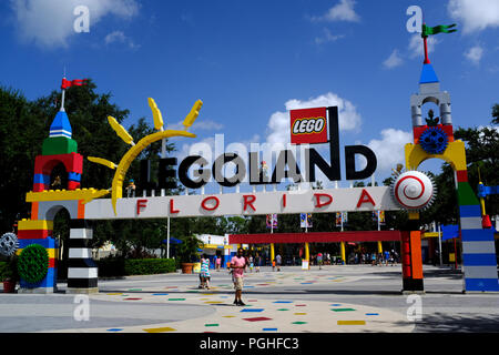 Entrance to Legoland, Winter Haven, Florida - Stock Photo