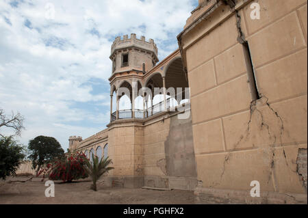 Beautiful view of the castle of San Vicente de Ca ete, Lima. - Stock Photo