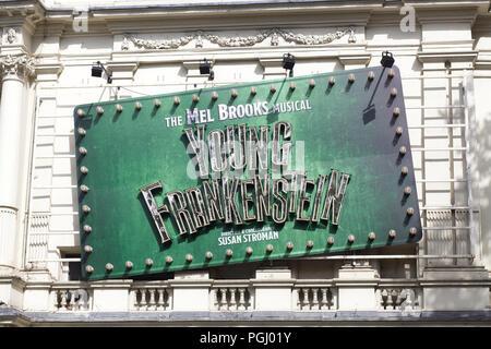Mel brooks musical Young Frankensten advertisment - Stock Photo
