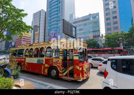 Seoul, South Korea - Jul 21, 2018 : Around Gangnam City Tour Course at station - Stock Photo