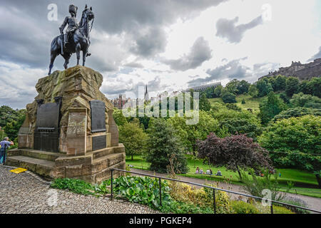 The Royal Scots Greys memorial in Princes Street Gardens West in ...