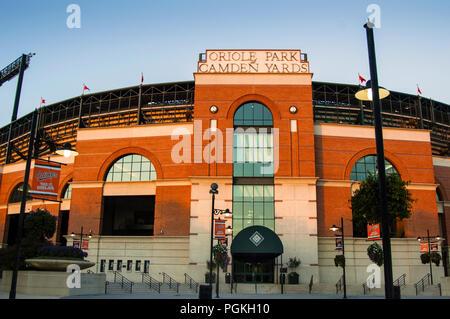 Oriole Park at Camden Yard Front Facade - Stock Photo
