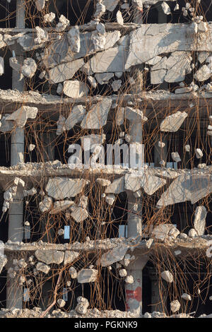 Rock Island, Illinois - Demolition of the Rock Island Plow Company building. Subsequently used by J.I. Case, the building had been vacant since 1988. - Stock Photo