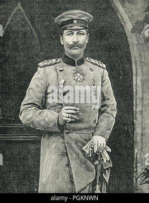 Kaiser Wilhelm II, circa 1890's - Stock Photo