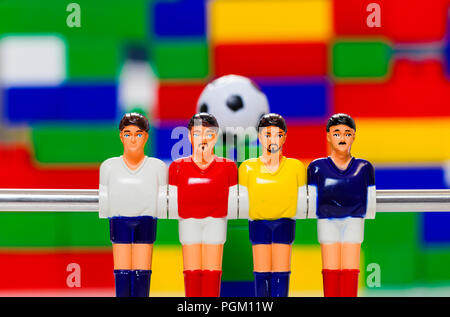foosball table soccer  football players sport teame - Stock Photo
