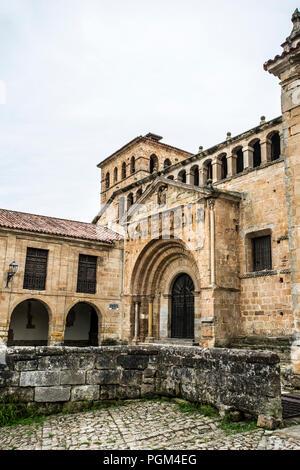 Collegiate Church of Santillana del Mar - Stock Photo