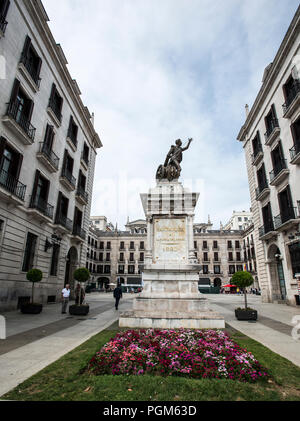 Monument to Pedro Velarde, 1880 - Stock Photo
