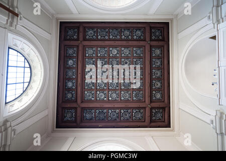 Chapel ceiling in Saint Anne Church in Warsaw, Poland - Stock Photo