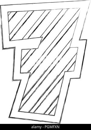 number seven comic style - Stock Photo