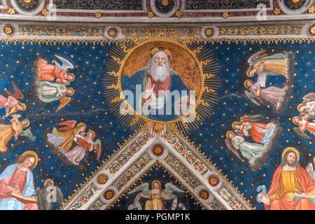 Deckenfresko in  der Klosterkirche San Maurizio al Monastero Maggiore, Mailand, Lombardei, Italien  | ceiling fresco,,  Saint Maurice al Monastero Mag - Stock Photo