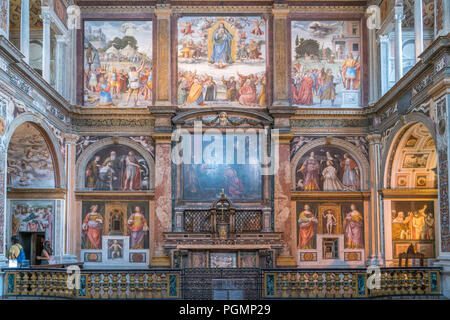 Innenraum der Klosterkirche San Maurizio al Monastero Maggiore, Mailand, Lombardei, Italien  | Church interior,  Saint Maurice al Monastero Maggiore,  - Stock Photo