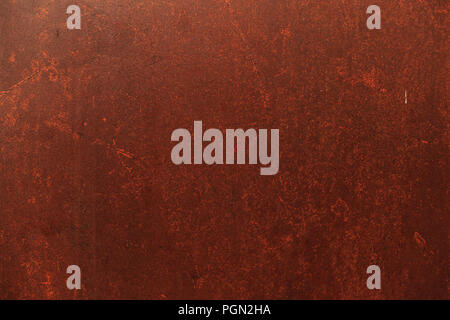 old detailed aged vintage rusty seamless red brown textured metal sheet exterior fence used in construction industry as a house building material. Goo - Stock Photo