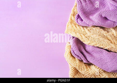 Texture Of White Wool Knit Sweater Homemade Stock Photo