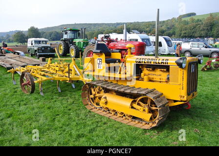 a Caterpillar D2 vintage agricultural tractor on display at