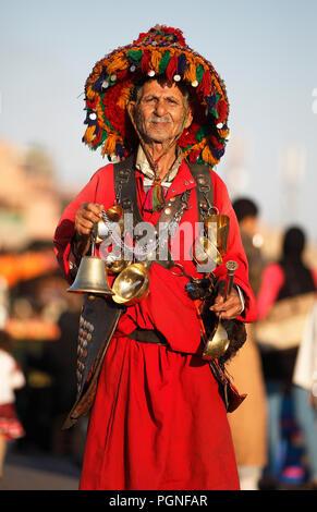 Water seller, Jemaa el Fna square, Marrakech, Marrakech-Safi province, Morocco