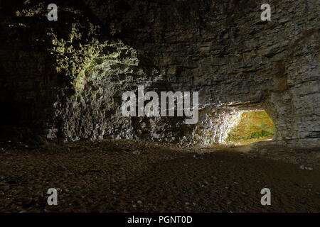 One of many caves at North Landing in - Stock Photo