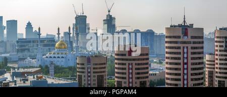 ASTANA, KAZAKHSTAN - JULY 7, 2016: Morning haze - Stock Photo