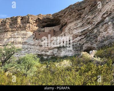 Montezuma Castle National Monument cliff dwelling - Stock Photo