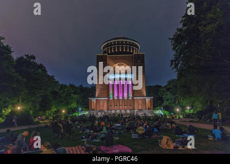 Planetarium im Stadtpark Hamburg - Klangwolke zum Vollmond - - Stock Photo