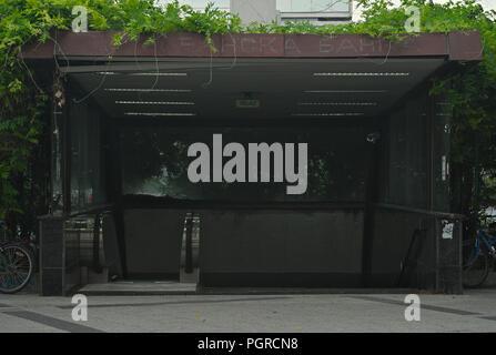 Entrance into subway passage under a street in Novi Sad - Stock Photo