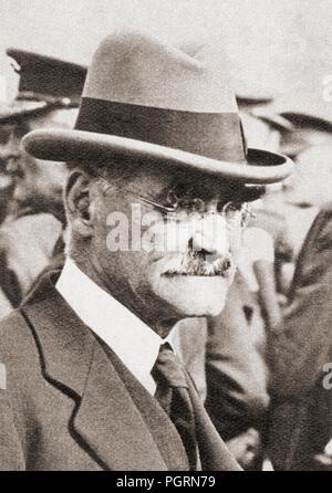 Joseph Rudyard Kipling, 1865 – 1936.  English journalist, short-story writer, poet, and novelist.  From These Tremendous Years, published 1938. - Stock Photo