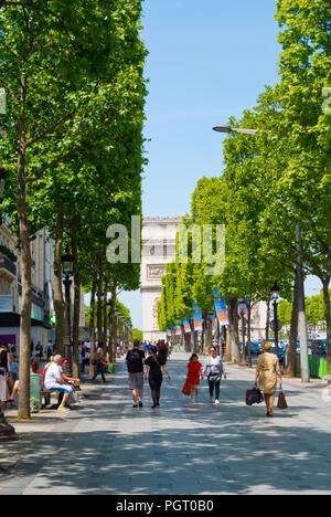 Avenue des Champs-Élysées, 8th district, Paris, France - Stock Photo