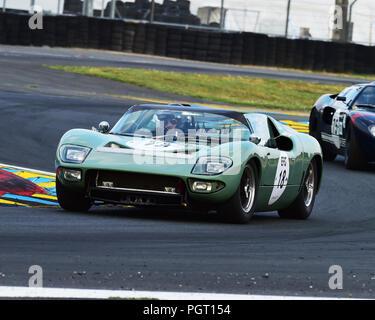 Rui Macedo Silva, Pedro Macedo Silva, Ford GT40 Roadster, Plateau 4, Grid 4, 1962 to 1965 cars, Le Mans Classic 2018, July 2018, Le Mans, France, circ - Stock Photo