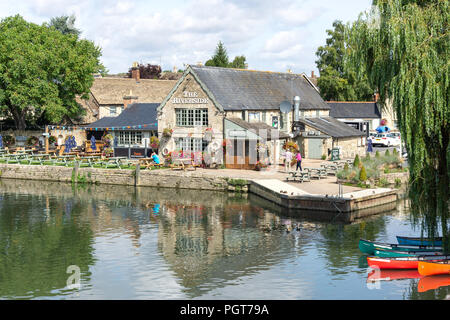 The Riverside bar and restaurant, Lechlade-on-Thames, Gloucestershire, England, United Kingdom - Stock Photo