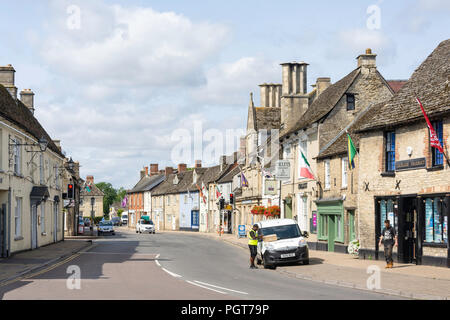 High Street, Lechlade-on-Thames, Gloucestershire, England, United Kingdom - Stock Photo