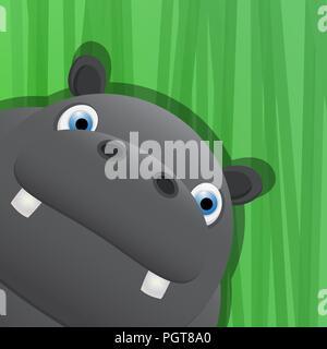 Avatar of a hippo Stock Vector Art & Illustration, Vector