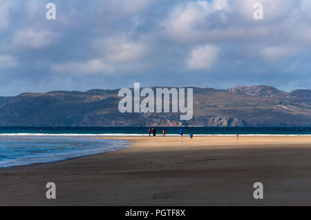 Narin Strand beach near Ardara, County Donegal, Ireland. Evening light. - Stock Photo