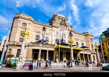 Facade of the Royal Dramatic Theatre in Stockholm, Sweden - Stock Photo