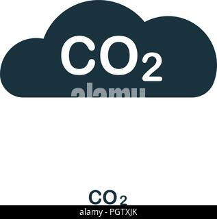 Co2 icon. Monochrome style design from power and energy collection. UI. Pixel perfect simple pictogram co2 icon. Web design, apps, software, print usa - Stock Photo