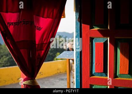Buddhist sanctuary in  Ghandruk . Annapurna trek. Nepal - Stock Photo