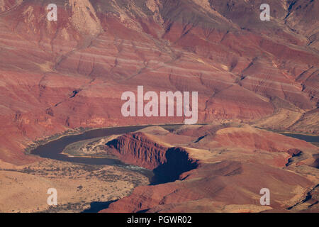 The Colorado River from Lipan Point, Grand Canyon National Park, Arizona - Stock Photo