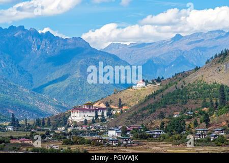 Paro Rinpung Dzong - Bhutan - Stock Photo
