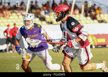 The World Lacrosse Championship in 2018 was held on July 12-21 2018 at the Orde Wingate Institute for Physical Education and Sports in Netanya, Israel - Stock Photo