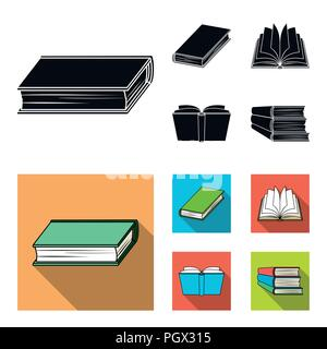 Various kinds of books. Books set collection icons in black, flat style vector symbol stock illustration . - Stock Photo