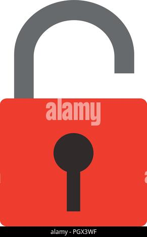 Padlock unlocked isolated - Stock Photo