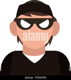 Thief avatar profile - Stock Photo