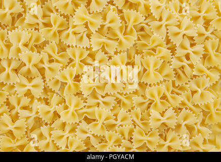 Bow tie pasta background - Stock Photo