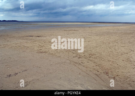 France - Bay of Somme - France - low tide - Stock Photo