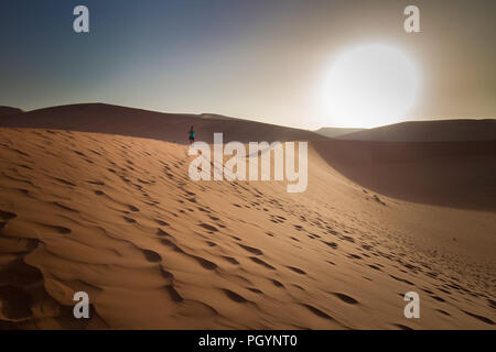 The otherworldly dunes and desert landscapes of Namib-Naukluft National Park make a beautiful and exciting day trip from Sesriem camp on the edge of t - Stock Photo