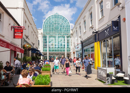 Leamington spa royal leamington spa town exterior of the royal priors shopping centre shopping mall leamington spa Warwickshire England uk gb europe - Stock Photo