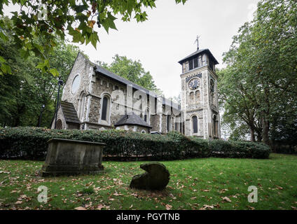 St Pancras Old Church in Somers Town, London, UK. - Stock Photo