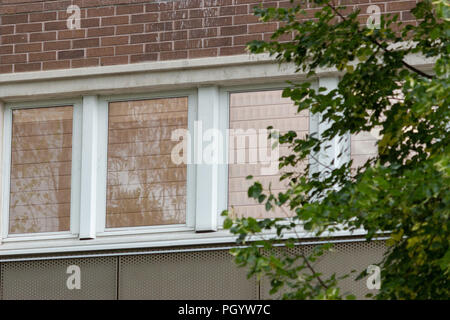 Green energy copper window membrane technology to retain heat in the building area. Stockholm, Sweden. - Stock Photo