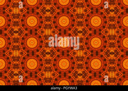 Seamless pattern background, repeating abstract kaleidoscope shape symmetrical backdrop for graphic design - Stock Photo