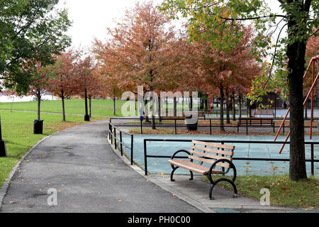 New York City, New York, USA. 29th Aug, 2018. FILE PHOTO. Barretto Point Park in the industrial Hunts Point section of the Bronx, New York, where a second set of human remains were found on 28 August, 2018 is pictured on 11 November, 2017. A first discovery of human remains were discovered three (3) miles away at Crotona Park on Sunday, 26 August, 2018, and are believed to belong to the same woman according to a statement from the New York Police Department (NYPD). Police ruled the woman's death a homicide on Wednesday, August 29, 2018. Credit: G. Ronald Lopez/ZUMA Wire/Alamy Live News - Stock Photo